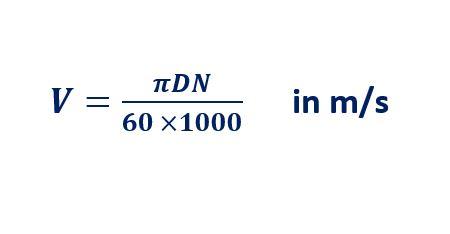 conveyor belt speed calculation formula