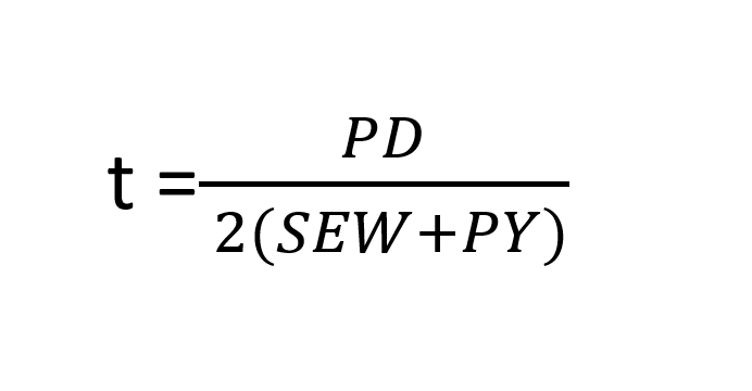 Pipe Wall Thickness Calculation formula